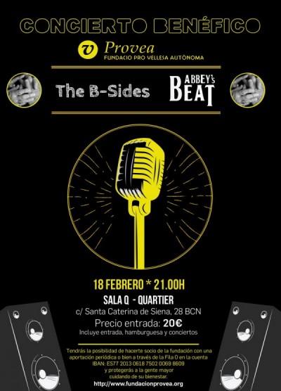 Concierto benéfico The B-Sides & Abbey's Beat para PROVEA.